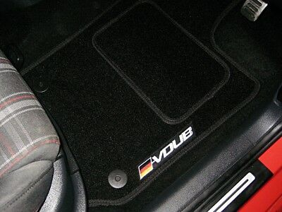 Car Floor Mats In Black To Fit Volkswagen Golf Mk4 GTI (1997-04) + VDUB Logos