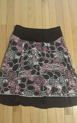Oh Baby By Motherhood Maternity Size Small Elastic Waist Skirt pink floral