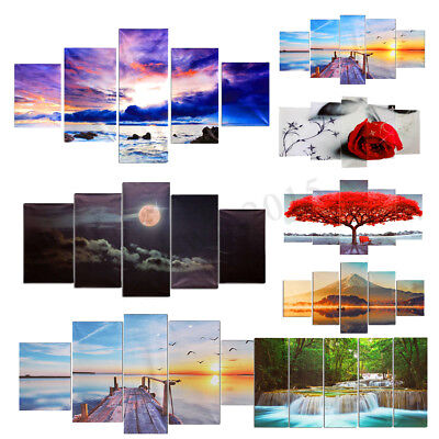 Canvas Huge Modern Home Wall Art Oil Painting Picture Print Unframed Home Decor