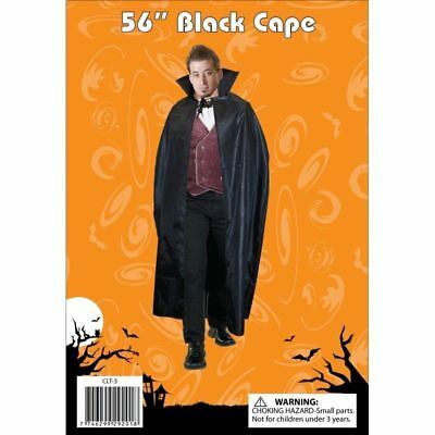 Women's Dracula Fancy Dress Black Cape Cloak Vampire Mens