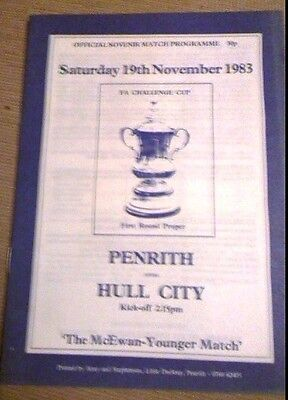 Penrith v Hull City FA Cup 1st Round 1983