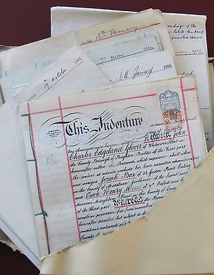 Bumper Bundle :old DOCUMENTS - great 'prop'. Relating to sale of a house.