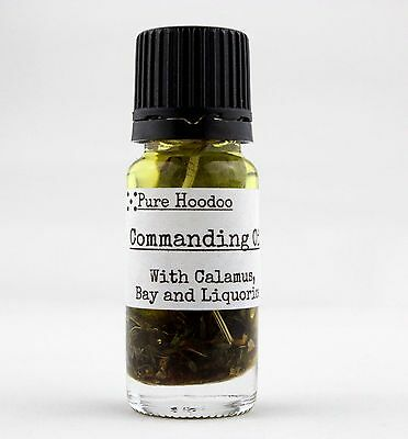 **COMMANDING** Hoodoo Condition Oil: (Victory, Power, Compelling) - Wicca, Magic