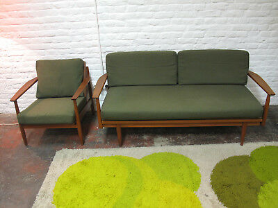 Salon scandinave (fauteuil et canapé-lit) - scandinavian armchair and sofa - dan