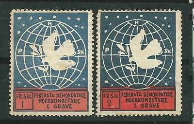 ALBANIA Scott# 382/383 New without rubber End of series