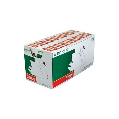 SWAN MENTHOL EXTRA SLIM PRE CUT CIGARETTE FILTER TIPS PACK OF 1 5 10 20 x 165Box