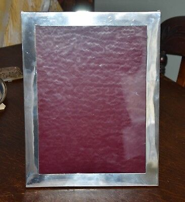 Large Hallmarked Plain Silver Picture Frame, Birmingham 1919