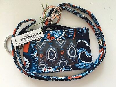 NEW Vera Bradley Zip ID & Lanyard Marrakesh