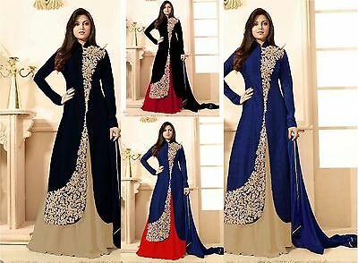PAKISTANI BOLLYWOOD DESIGNER EMBROIDERED ANARKALI SUIT INDIAN BRIDAL GOWN 01x