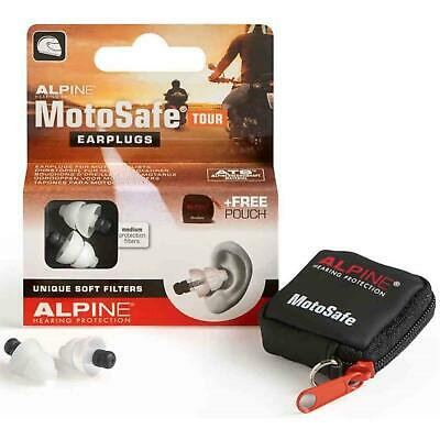 Alpine Motosafe Tour Earplugs - Medium Protection Filter 1 2 3 6 12 Packs