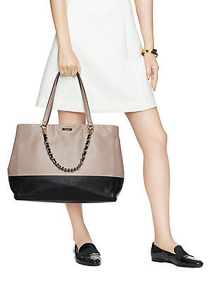 5f17896f1d422 NWT  548 KATE SPADE TOWN ROAD Colorblock FRANCESCA TRAVEL Leather Shoulder  Tote