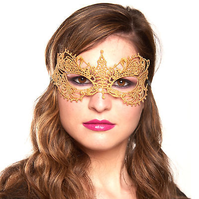 Masquerade Party Decorations, Gold Venetian Sexy Laser Cut Masquerade Mask