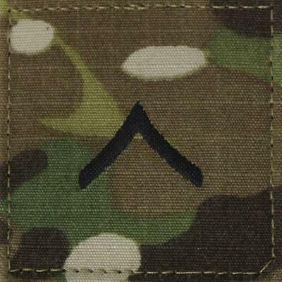 US Army OCP/ Multicam PRIVATE FIRST CLASS; PFC/ E-3; subdued rank patch w/velcro