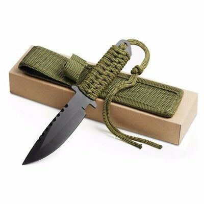 7.5 Inch Utility Combat Tactical Knife Camping Survival hunting Nylon Sheath Man