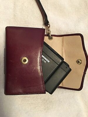 Minox 35 ML Camera with Burgundy Leather Case