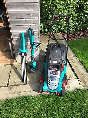 BOSCH Cordless Lawn Mower, Trimmer and Strimmer (18 months old)