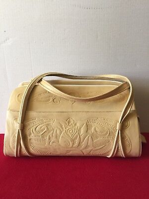 Vintage PYMSA Leather Tooled Purse (Mexico))