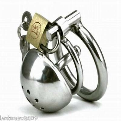 Super Small Male Chastity Device Bird Lock Stainless Steel Cock Cage S428
