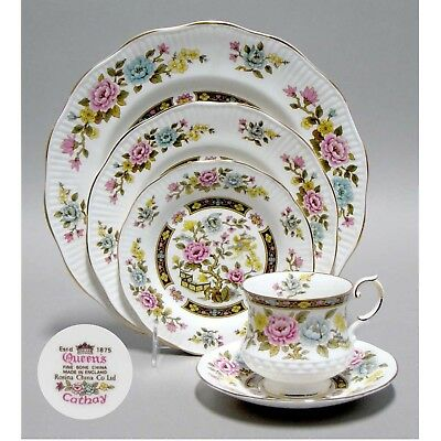 Rosina Queen's 81 pc. for 12 persons English Bone China Dinnerware set Cathay