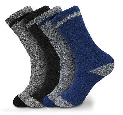 2,4,6 or 12 Pairs Beverly Hills Polo Club Men's Thick Fuzzy Slipper Socks