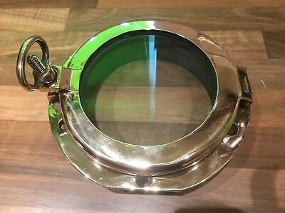 Vintage Antique Bronze Brass Opening Porthole Maritime Marine Nautical Boat