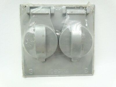 NEW Ace 3090297 Grey 2 Gang Receptacle or Switch All Weather Outlet Box Cover