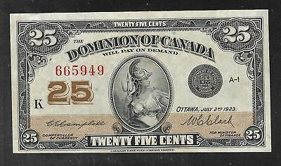 Canada - Old 25 Cent Note - 1923 - P11c - XF+