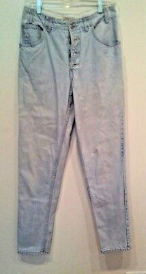 Vtg Guess Jeans 1005High Waist Tapered Leg Slim Fit Mom Jeans Light Blue Cotton