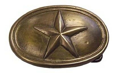 """3 1/2"""" Texas Star Belt Buckle Reproduction New"""