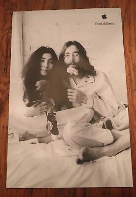 John Lennon and Yoko Ono THINK DIFFERENT  Apple Poster...mint