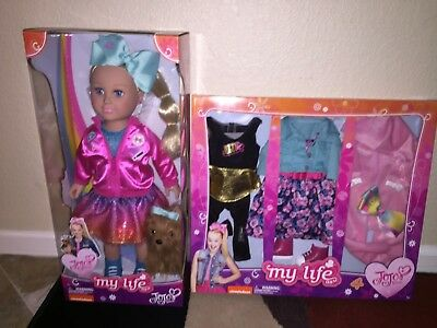 Nib Jojo Siwa My Life Doll W/bow Bow & 3 Outfit Set I Ship Everyday