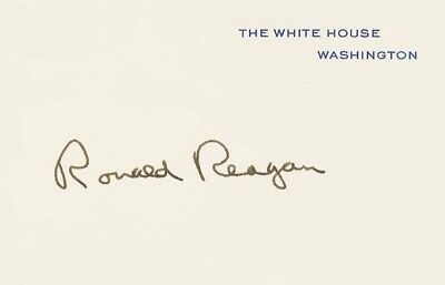 Ronald Reagan White House signed Card