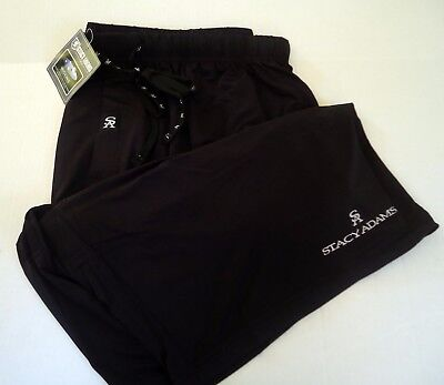 Stacy Adams Moisture Wicking Black Sleep Shorts Men's Size 2X - 3X New with Tags