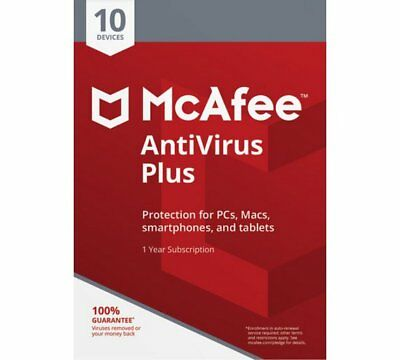 Download McAfee Antivirus PLUS 2019 1 Year Unlimited Devices WINDOWS MAC ANDROID