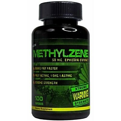 HardRock METHYLZENE 100caps Appetite Control Mood Enhancement Improved Focus