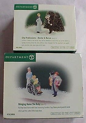 """DEPT 56 CHRISTMAS IN THE CITY ACCESSORIES """"SET OF 2"""" - New In Box"""