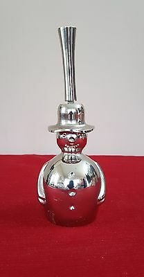 Snowman Dinner Bell Crate And Barrel W Tag Silver Tone Metal Xmas Made In India