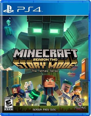 Minecraft Story Mode - Season 2 Pass Disc PS4 Game BRAND NEW SEALED