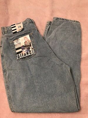Vintage Gitano Relaxed Fit Jeans Light wash Mom jean Size 18