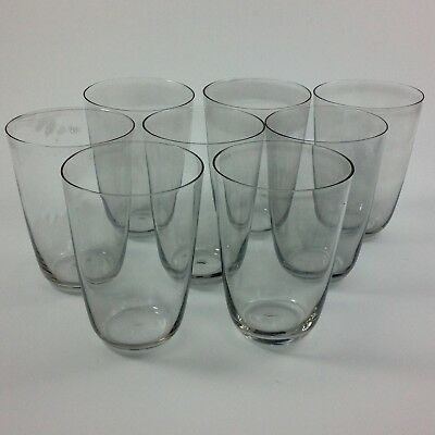 Eight Mid Century Modern Smoked Glass Crystal Tumblers Water Glasses Morgantown?