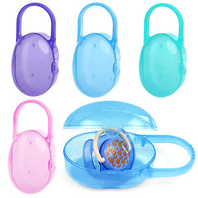 Baby Infant Soother Holder Storage Case Pacifier Dummy Travel Storage Box GOOD
