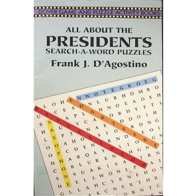 All About The United States Us Presidents Word Find Book