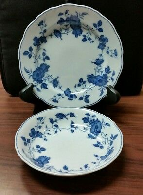Fine China Japan Royal Meissen 3 Bread & Butter Plates and 3 Small Bowls Lot