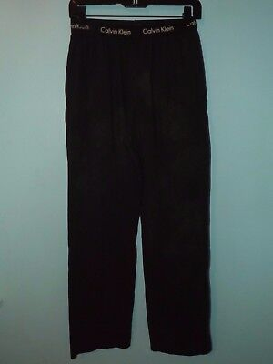Calvin KLEIN $120 Black Lounge Pants MEN'S SIZE Med Sleepwear PAJAMA MODAL Used