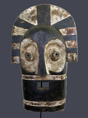 Monumental Kifwebe Mask from Songye -Tempe People (DRC) 27 1/2 inches Tall.