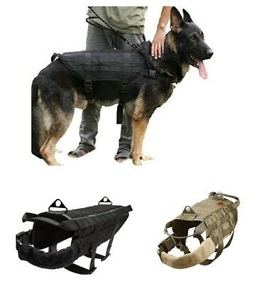 Tactical Military Dog Vest Pro-Arms Harness Camo and Black Size S and M