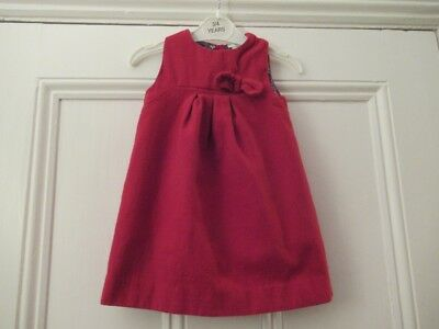 12-18m: Lovely bright red dress: Wool blend/ cotton lining: French, CYRILLUS