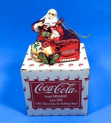Coca Cola Thirst Ask For Nothing More Ornament Issue 2001 Original Box Cavanagh