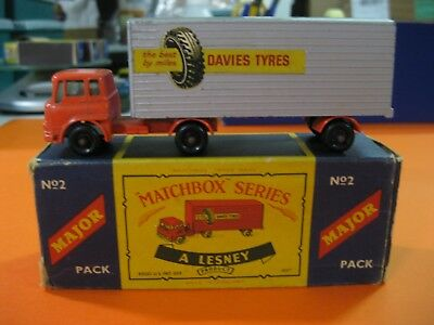 Vintage 60/70´s Matchbox Lesney Major Pack Nº2 York Freightmaster Trailer