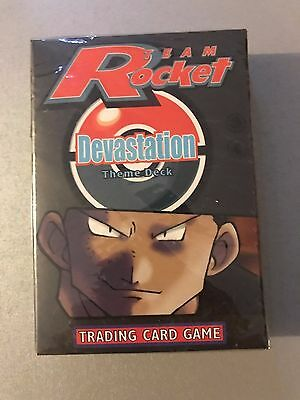RARE Pokemon TCG TEAM ROCKET DEVASTATION Theme Deck FACTORY SEALED 1999